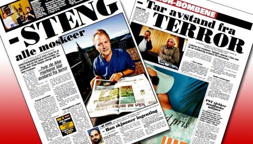 Faksimiler av VG 13. og 27. juli 2005 i kjølvannet av terroraksjonene i London og Sharm el-Sheikh.
